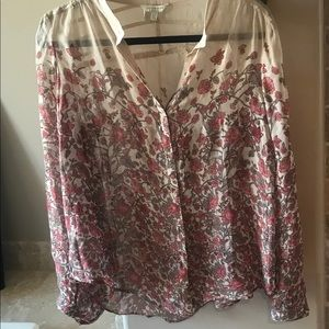 Lucky Brand flower print blouse